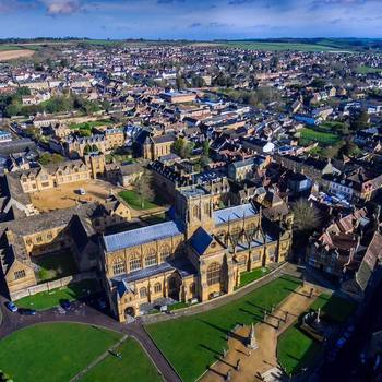 Sherborne Abbey - birds eye view